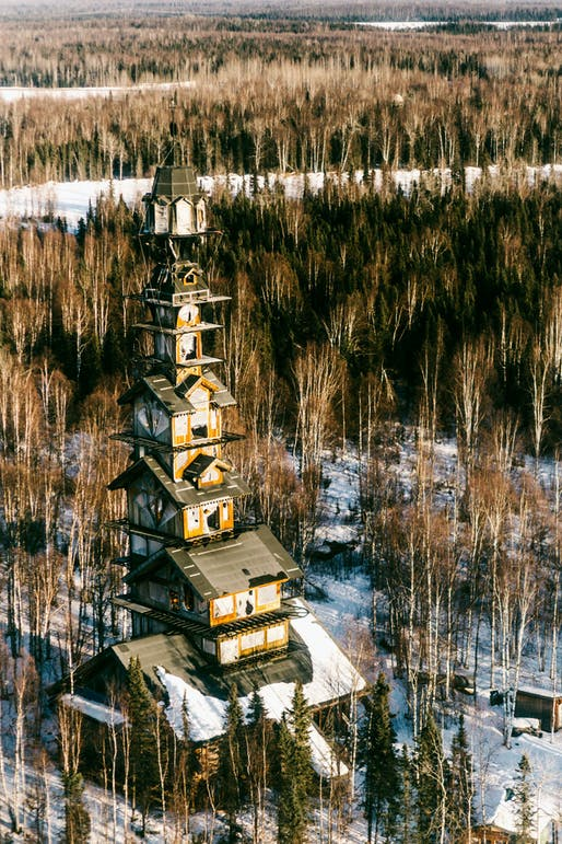 "The 12-story building – locals call it the ""Dr. Seuss House"" – sat abandoned for a while, but a new owner is currently working on renovations. (Photo: Jovell Rennie; Image via thisiscolossal.com)"