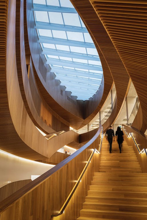 Calgary Central Library by Snøhetta in collaboration with DIALOG. Photo © Michael Grimm.