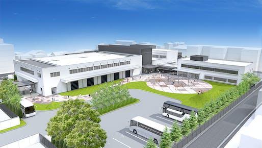 Rendering of the Nintendo Gallery, formerly the Nintendo Uji Ogura Plant. Image: Nintendo