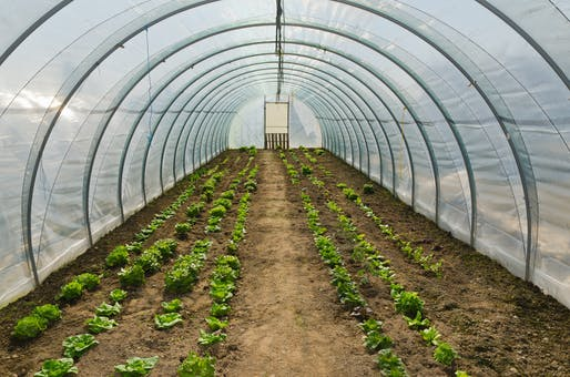 Example of a farm-hoop house.