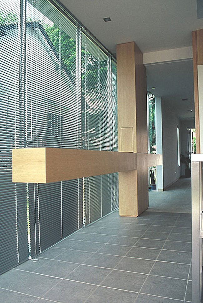 22 Capricorn Drive by HYLA Architects (interior view showing transition from old to new)