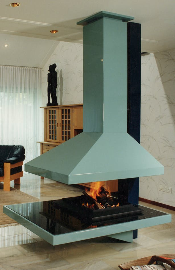Bloch Design suspended fireplace