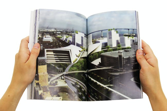 An online book is available that describes NSAD student ideas for San Diego's regional transportation corridor. It was developed during a special studio collaboration with Bjarke Ingels Group. Photo: courtesy of BIG.