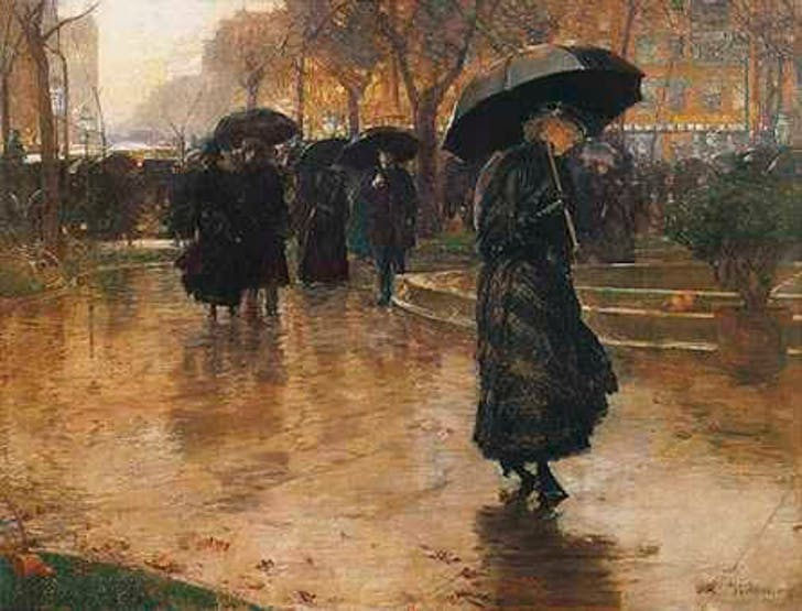 Figure 22 - Childe Hassam painting of New York in 1890