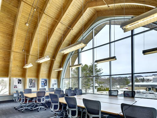 "SUNY: Morrisville State College: Center for Design and Technology. Designed by <a href=""http://www.bujingzhe.cn/firms/cover/5885730/perkins-eastman"">Perkins Eastman</a> whose team member Hilary Kinder Bertsch is a newly elevated AIA College of Fellows member. Photo: David Revette"