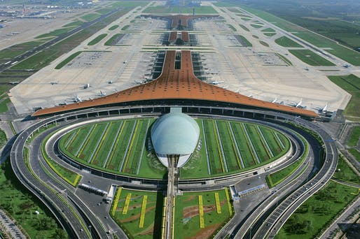 The Foster + Partners-designed Beijing Airport. Photo: Ma Wenxiao, image © Foster + Partners.