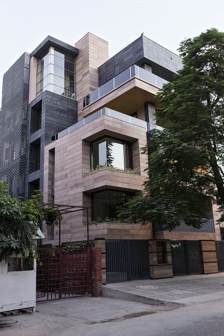 Wrapping up a multi-apartment residence