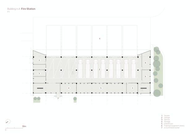 Fire Station Plan F1 Credits: West-line Studio