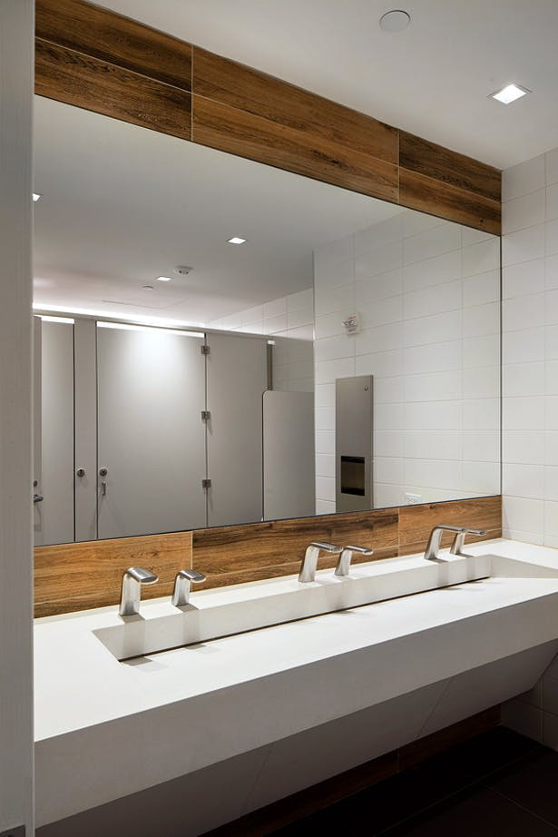 View of the typical re-imagined Core bathroom