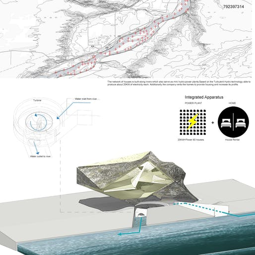 Overall Winning project, 'Integrated Apparatus', by Massimiliano Orzi.