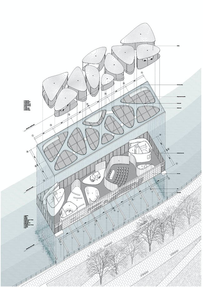 Exploded axo (Image: Serie Architects)