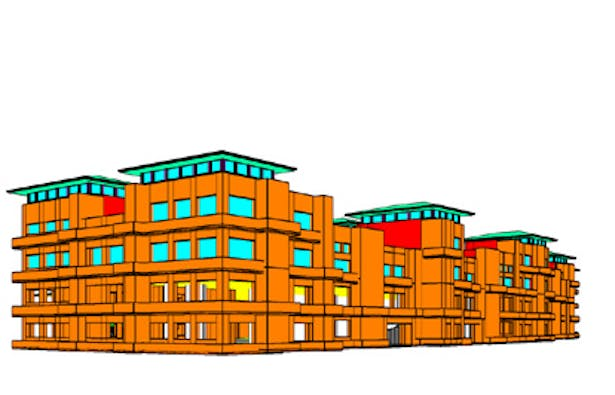 Apartments over parking