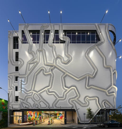 Wynwood Garage project in Miami by Faulders Studio. Image © Golden Dusk Photography.