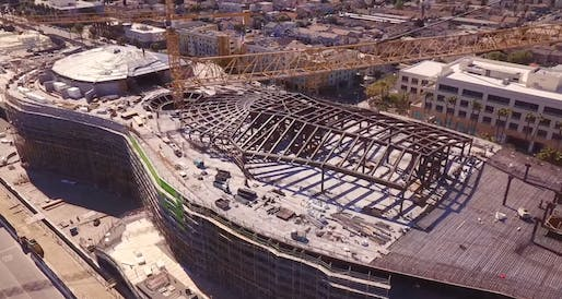 Screen grab of construction footage taken in March 2021 via John Kay