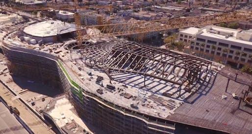 Screen grab of construction footage taken in March 2021 via John Kay