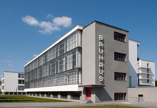 The Walter Gropius-designed main building of the Bauhaus in Dessau, the school's second location in 1925 after six years in Weimar. Image: Bauhaus Dessau.