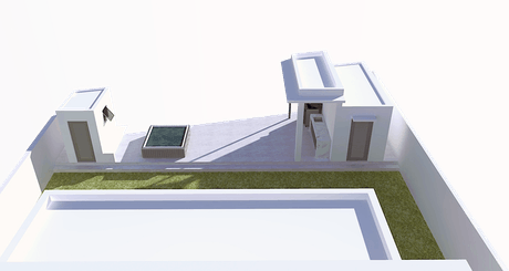 Design of exterior areas for existing house