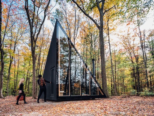 Klein prototype A45 by BIG, a small prefab vacation home design. Image: Matthew Carbone.