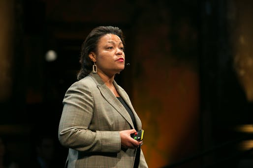 New Orleans Mayor LaToya Cantrell. Image courtesy of Agaton Strom/Flickr user PopTech.