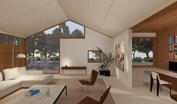 Renovation and addition to ranch style house in the Hollywood Hills.