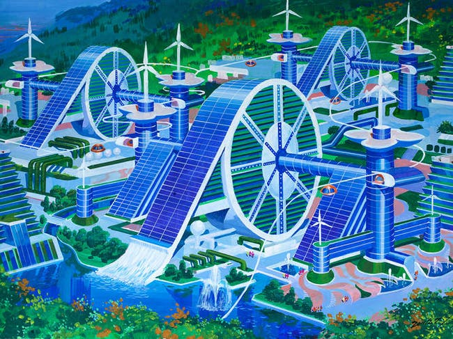 Illustration from the 'Utopian Tours' design competition. Image via fastcoexist.com