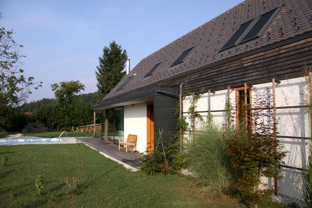 House A, garden view