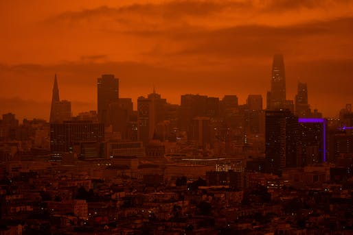 San Francisco during the Labor Day wildfires, September 2020. The new UIA 2030 Award program is currently seeking the best sustainable urban development concepts (details below). Photo: Patrick Perkins/Unsplash.