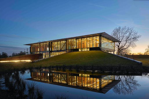 Less than $15 Million - National Award: Jacksonport State Park Visitors Center, Newport, AR. Structural Engineer: Engineering Consultants, Inc., Little Rock, AR. Architect: Polk Stanley Wilcox Architects, Little Rock, AR. Photo: Timothy Hursley.