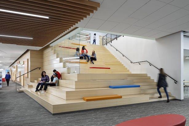 Platform stair first floor