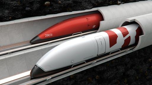 Swisspod Hyperloop pod rendering. Image: TTCI