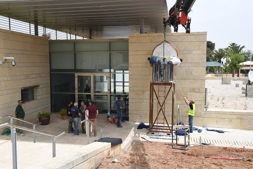 "Preparations for the opening ceremony in May 2018. Photo: U.S. Embassy Jerusalem/<a href=""https://www.flickr.com/photos/usembassyta/42012112152/"">Flickr</a>"