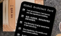 Dash Marshall's Global Architect Card is an essential item for the world-traveling architect