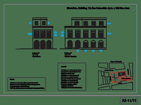 As-built elevation for restoration