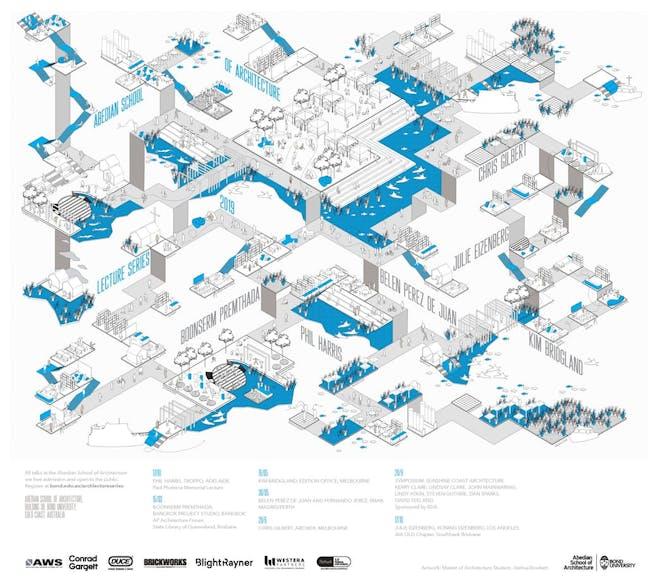 Artwork- Joshua Bowkett, Master of Architecture Student. Courtesy Abedian School of Architecture