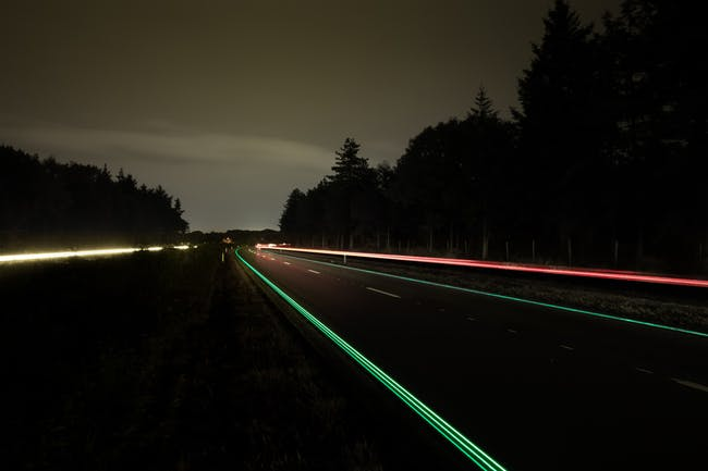 Smart Highways a project by designer Daan Roosegaarde and Heijmans Infrastructure at N329 in Oss (NL)