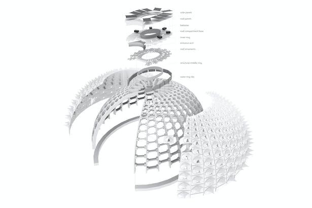 Structural Axon Image © Harrison Atelier