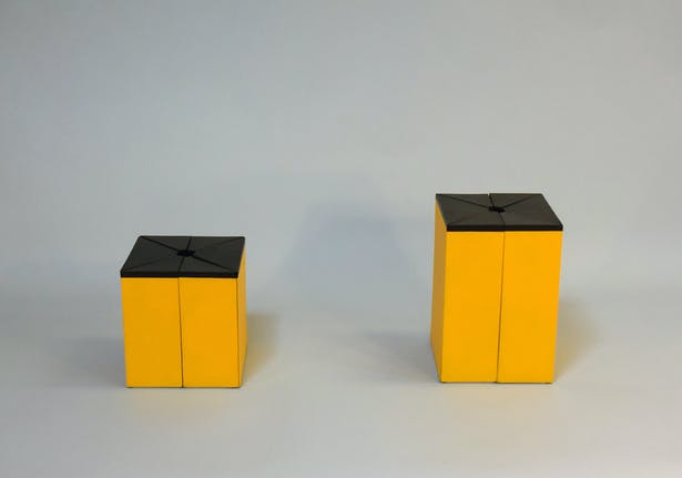 Both the tall box and the short box are now assembled.