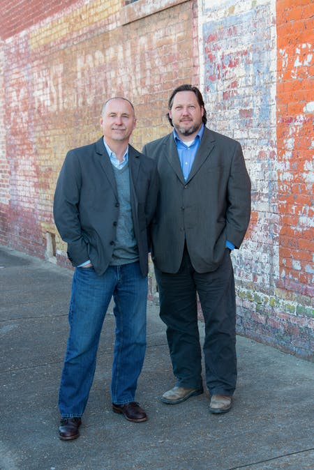 John Beard and Dale Riser, founders of Beard+Riser