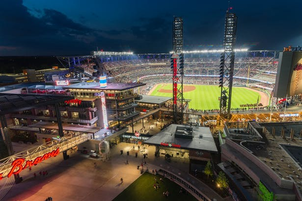SunTrust Park credit Mortenson