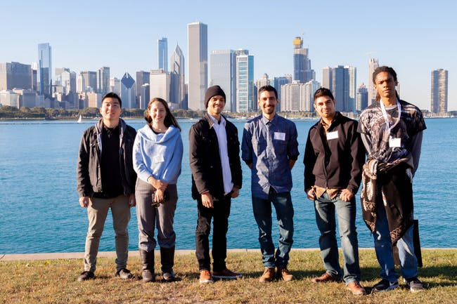 Woodbury NOMAS chapter at the 2018 NOMA Conference in Chicago. Students pictured (from left to right): Cory Matsuda, Stephanie Green, Khan Muhammad, Storm Campo, Daniel Pena-Sosa, Lamont Burnley.