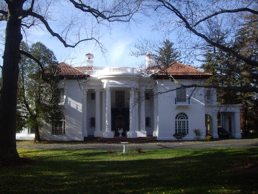 Photo of Villa Lewaro, a mansion designed in Upstate New York by African American architect Vertner Tandy for Madam C.J. Walker, the first African American female millionaire. Image courtesy of Wikimedia user Dmadeo.