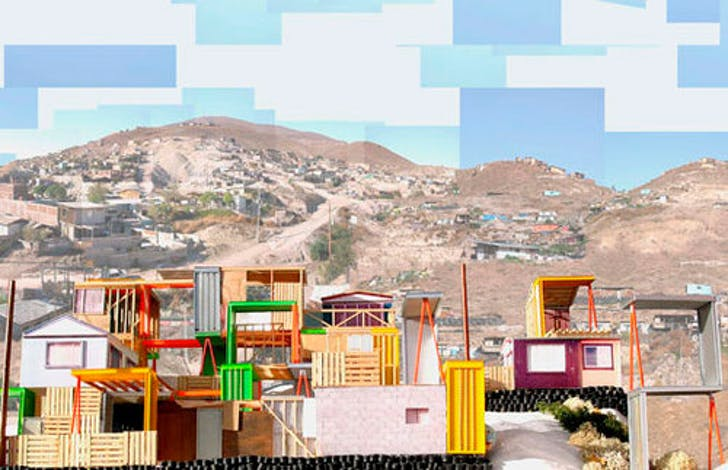 'Manufactured sites' by Teddy Cruz, Border of San Diego (USA) and Tijuana (Mexico); source: www.moma.org