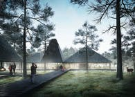 Norwegian Woods, a forest with a roof