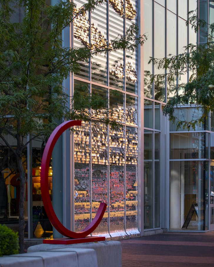 In Columbus, Indiana an exhibition enlivens the city with site-specific installations, community, engagement, and architecture. Pictured: Window Dressing by Ang Li. Image © Hadley Fruits/Courtesy of Exhibit Columbus
