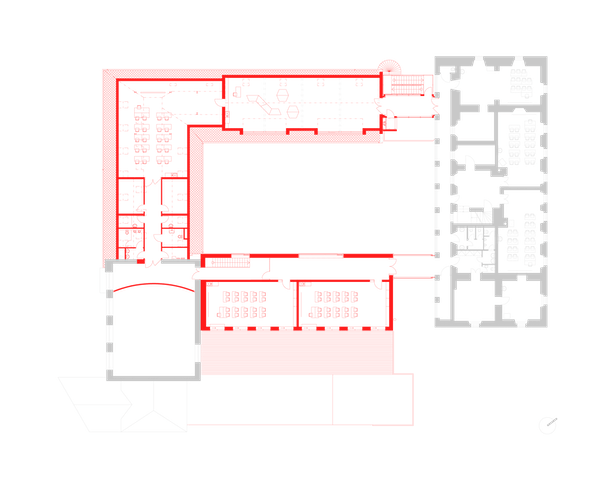 First floor plan Public Atelier, FUUZE