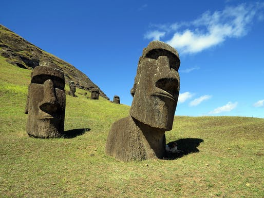 "The world's cultural heritage, like the famous moai statues on Rapa Nui, Easter Island, is increasingly threatened by the effects of climate change. Photo: David Berkowitz/<a href=""https://www.flickr.com/photos/davidberkowitz/8597886315/in/photostream/"">Flickr</a>"