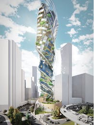 Twisted public ground- CTBUH International Student Tall Building Design Competition