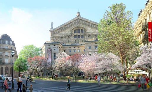 Paris's mayor is removing concrete and planting trees instead. Image courtesy of Ville de Paris/Apur/Céline Orsingher.