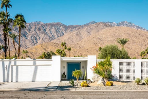Guggenheim House in Palm Springs, CA (built in 1967, remodeled by Grace Home Furnishings). Photo via Palm Springs Modernism Week/Facebook.