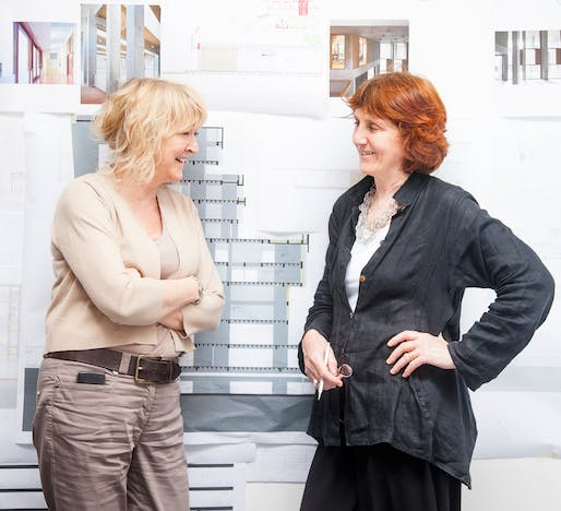 Yvonne Farrell and Shelley McNamara of Grafton Architects © Grafton